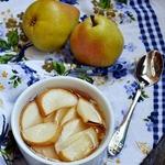 Десерт из овсянки с грушами