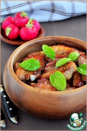 Рецепт Свиной подчеревок запеченный в очень вкусном маринаде