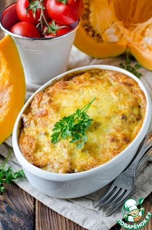 Рецепт Запеканка из макарон с тыквой и фаршем
