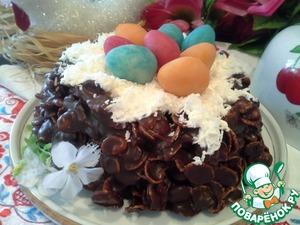 Рецепт Пасхальный торт-гнездо