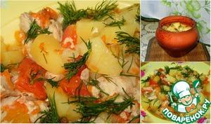 Рецепт Свинина, запечённая с овощами, в горшочках