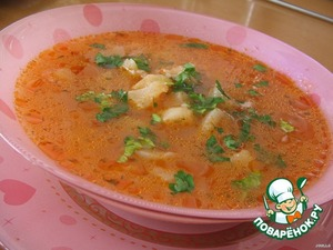 Fish soup from Croatia