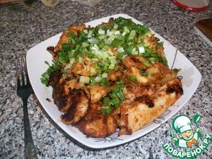 Рецепт Куриное филе в томатно-чесночном соусе