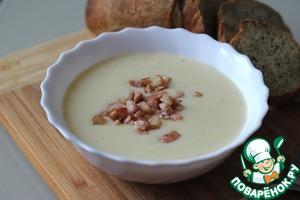 Рецепт Картофельный суп-пюре с сыром и беконом