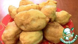 Рецепт Дрожжевые жаренные пирожки с капустой