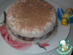 Рецепт Торт-суфле «Молочно-фруктовое облако»
