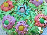 """Пасхальный кулич """"Цветочная поляна """"с шоколадным сюрпризом ингредиенты"""