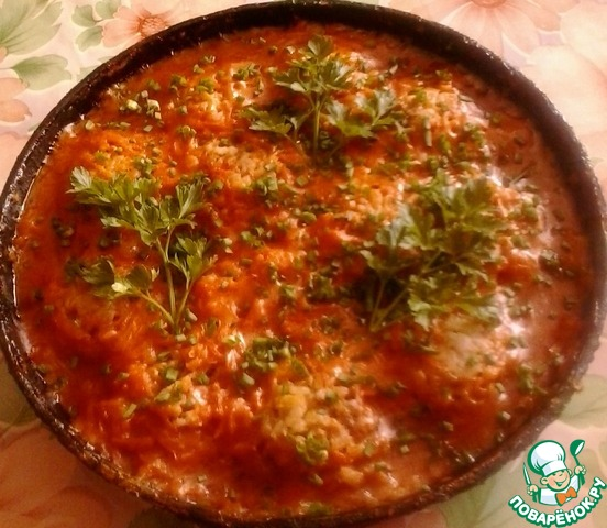 тефтели в духовке в сметанном томатном соусе
