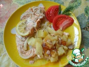 Рецепт Семга с картофелем в мультиварке