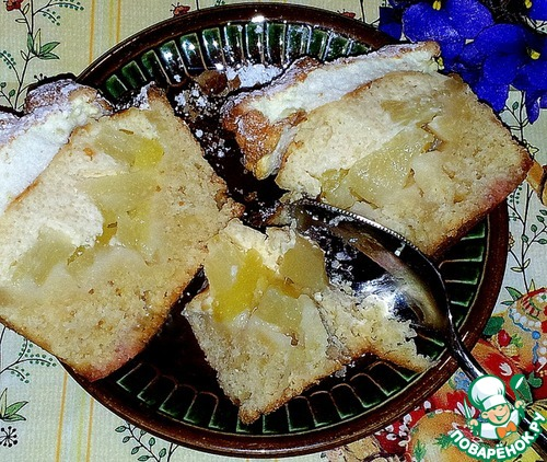 Пирожное творожно ананасовое