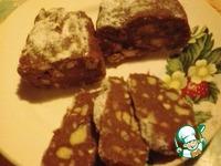 """Шоколадная колбаска """"Наслаждение"""" ингредиенты"""