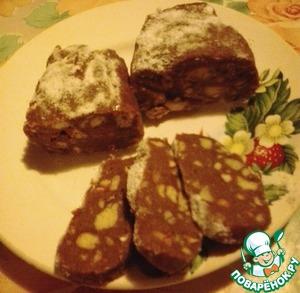 """Рецепт: Шоколадная колбаска """"Наслаждение"""""""