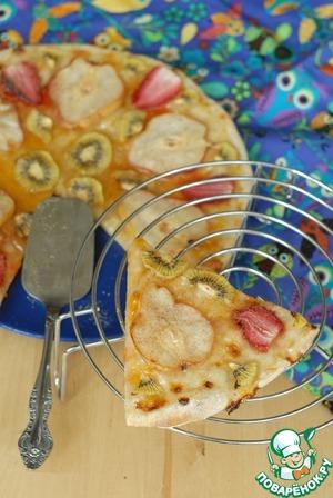 Рецепт Десертная низкокалорийная пицца с конфитюром