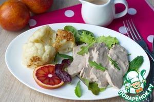 Рецепт Куриная грудка под соусом из тунца
