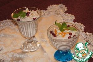 Рецепт Творожный десерт с абрикосовым джемом D'arbo