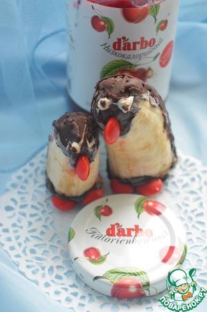 Рецепт Бананы-пингвины