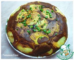 Рецепт Заливной пирог с картофелем и мясом