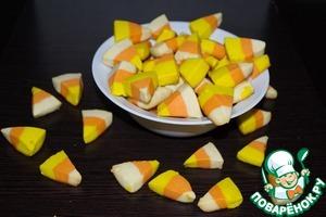 """Рецепт Печенье """"Сладкая кукуруза"""" для Хэллоуина"""