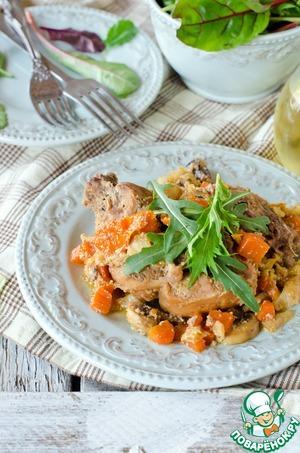 Рецепт Кролик тушеный с овощами