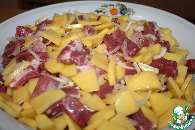 пирог с мясом и картошкой татарский рецепт с фото
