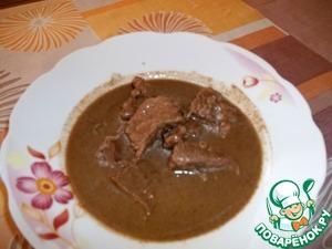 Рецепт Арахисовый соус с говядиной