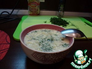 Рецепт Куриный суп с миндалем (в мультиварке )