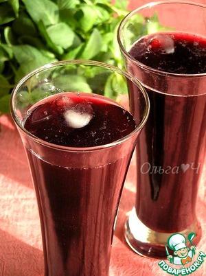 Рецепт Морс из черной смородины с мятой