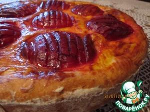 Рецепт Пирог-бриош со сливами и яичным кремом (мини пироги)