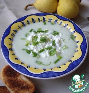 Рецепт Холодный огуречный крем суп с творогом