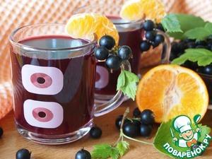 Рецепт Морс из черной смородины и мандаринов