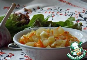 Рецепт Хрустящий кабачковый салат