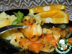 Рецепт Рыба в томатно-апельсиновом соусе
