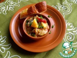 Рецепт Баклажаны с картошкой и помидорами