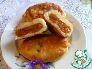 Рецепт Жареные пирожки с тыквенно-яблочной начинкой