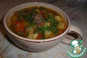 """Рецепт Густой суп """"Летний экстаз"""" с фрикадельками"""