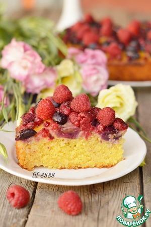 Летний пирог с ягодами простой рецепт с фото