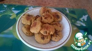 Рецепт Печенье из кукурузной муки с изюмом