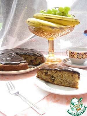 Рецепт Банановый пирог с шоколадом