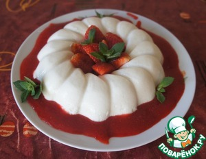 Рецепт Кокосовая панна котта с клубничным соусом