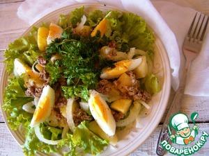 Рецепт Фирменный салат с тунцом от Нонны Гришаевой