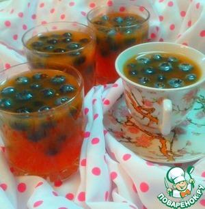 Рецепт Арбузный кисель с алычой и голубикой
