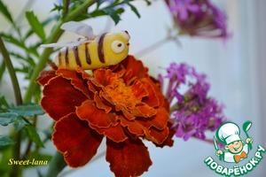 Рецепт Пчелки из мастики