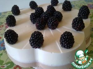 Рецепт Творожный торт без выпечки с ежевикой