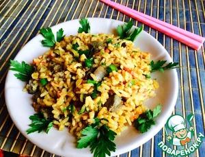 Рецепт Быстрый рис с печенью и помидорами