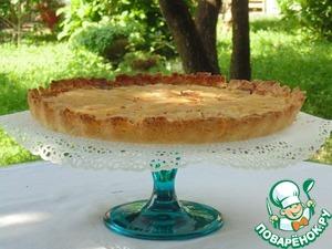 Рецепт Грушевый пирог с шоколадом и сливочным кремом