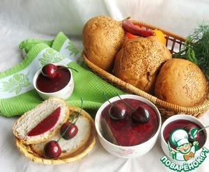Рецепт Паштет печеночно-грибной с вишневым желе