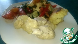 Рецепт Курица в молочно-сметанном соусе