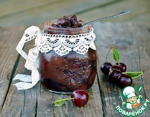 Рецепт Вишневое варенье с шоколадом