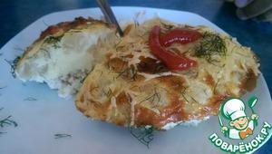 Рецепт Омлет с креветками и цветной капустой