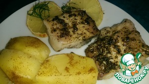 Рецепт Рыба, запеченная с лимоном и травами